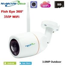 Fish-Eye-Lens Ip-Webcam Ip-Camera Remote-Control VR Night-Vision Panoramic Onvif Outdoor