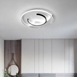 Nowoczesne lampy sufitowe LED do salonu sypialnia proste Avize Lustre lampa sufitowa do domu surface mounte oprawa oświetleniowa w Oświetlenie sufitowe od Lampy i oświetlenie na