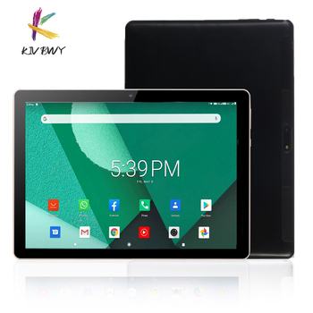 KIVBWY Ready stock 4G LTE Tablets 10.1 inch 2+32GB Android8.0 Octa Core Tablet Pc Google Play Dual SIM Card GPS WiFi Bluetooth 10 1 inch official original 4g lte phone call google android 7 0 mt6797 10 core ips tablet wifi 6gb 128gb metal tablet pc