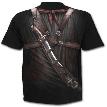 Men's T-shirts Men's Western Cowboy Print Round Neck Slim Fit Short Sleeve Top Shirt Blouse Printed Casual T-shirt 2