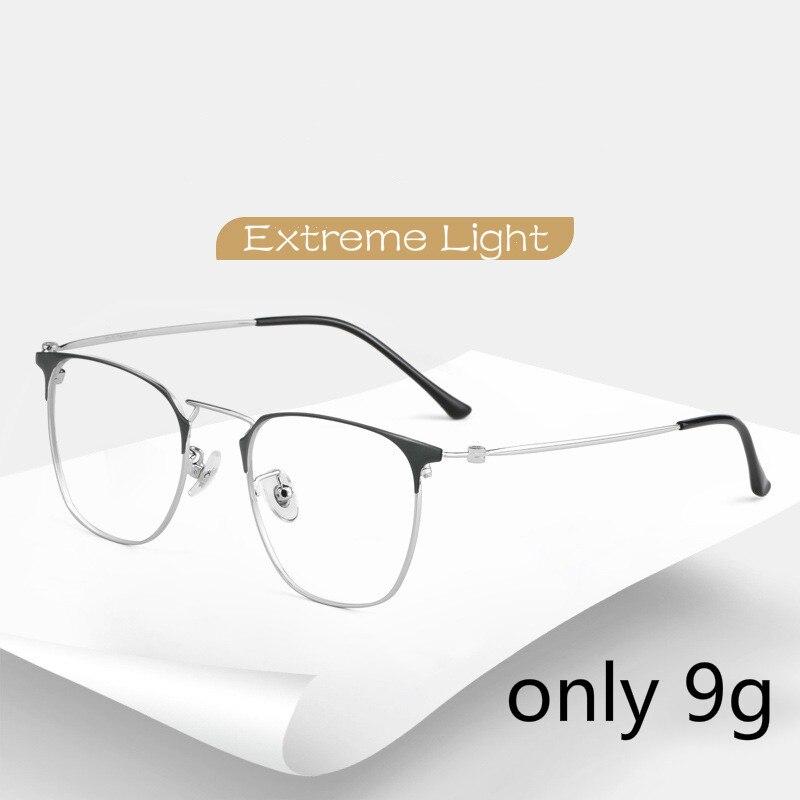 Retro Titanium Glasses Frame Men Light Luxury Extreme Thin Blue Light Eye Protection Optical Spectacles Eyeglasses Women
