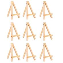 Mini Wooden Easel Small Wood Display Stand for Artist Painting, Business Card, Displaying Photos, Decorative Plates and More