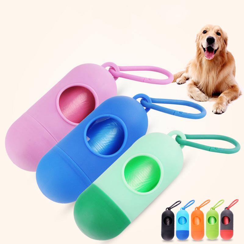 1Pcs Plastic Pet Dog Poop Bag Dispenser Waste Garbage Holder Dispensers Poop Bags Set Pets Dogs Trash Cleaning Supplies