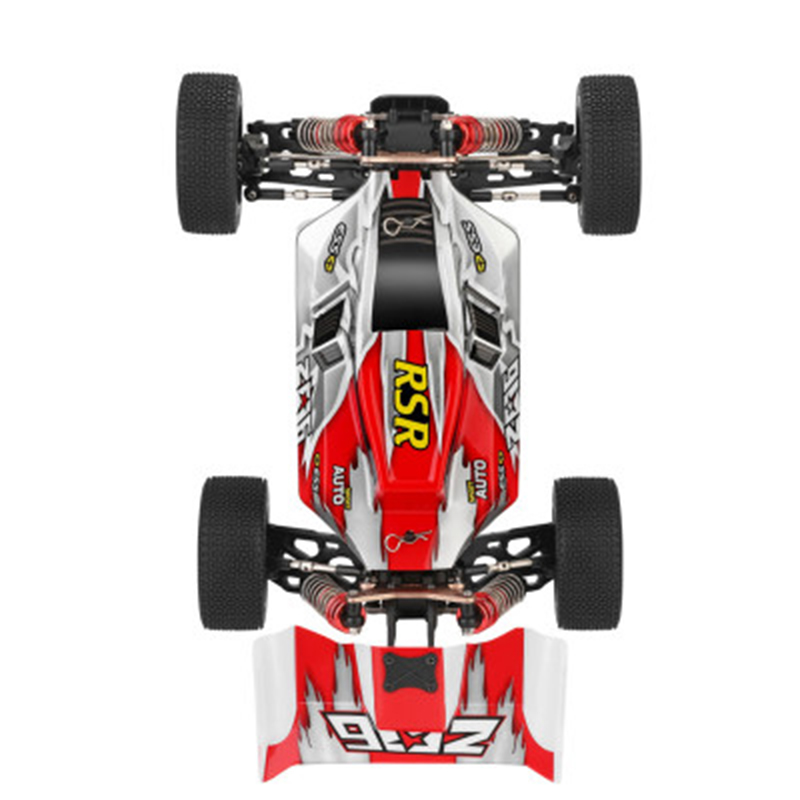 WLtoys 144001 1/14 2.4G Racing Remote Control Car Competition 60 km/h Metal Chassis 4wd Electric RC Formula Car USB Charging 5