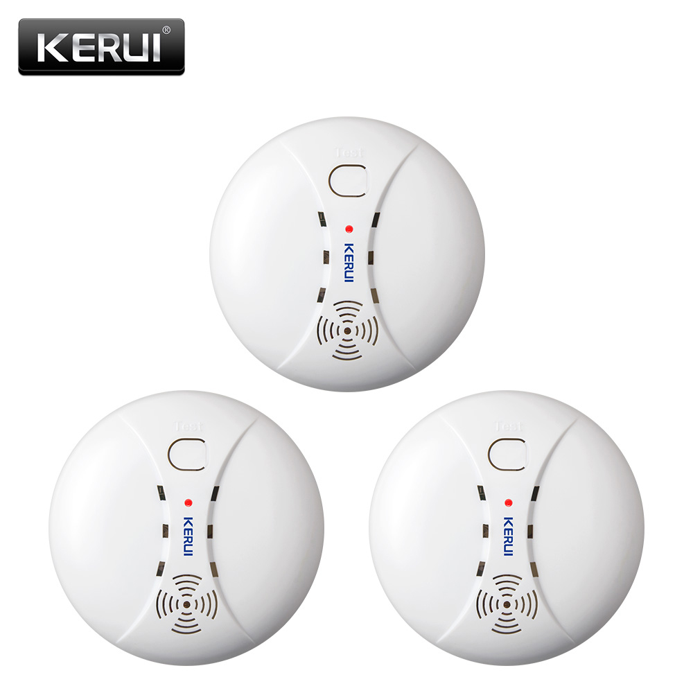 KEIRUI Wireless Smoke Detector Alarm System Alarm Accessories Sensitive Smoke/Fire Detector For Home Security Alarm System