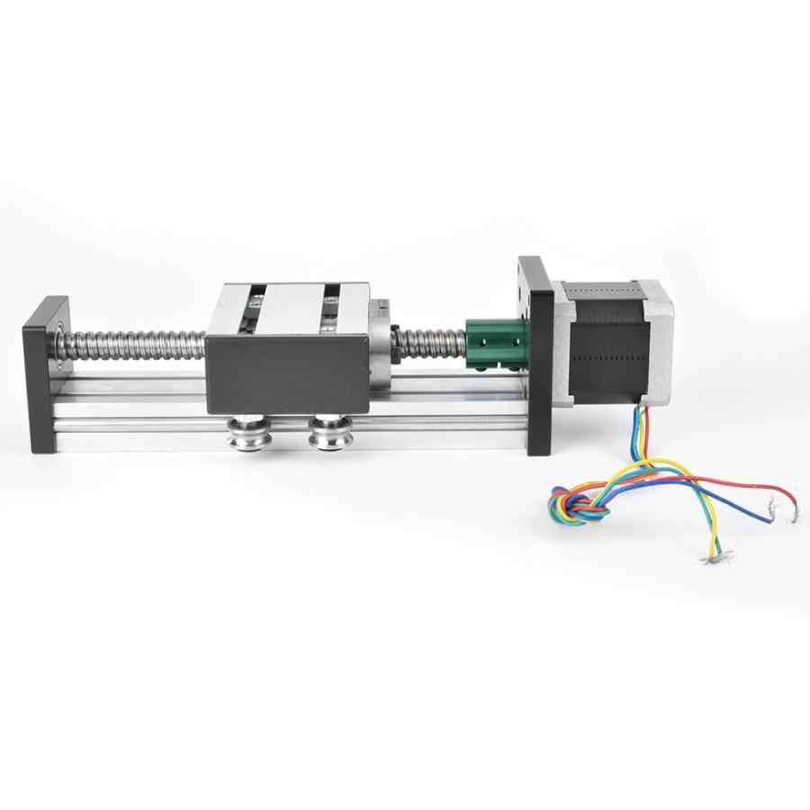 Guide Rail Ball Screw Slide Linear Guide Single Shaft Slide Screw Guide Stroke 200mm with 57 Motor linear guide rail