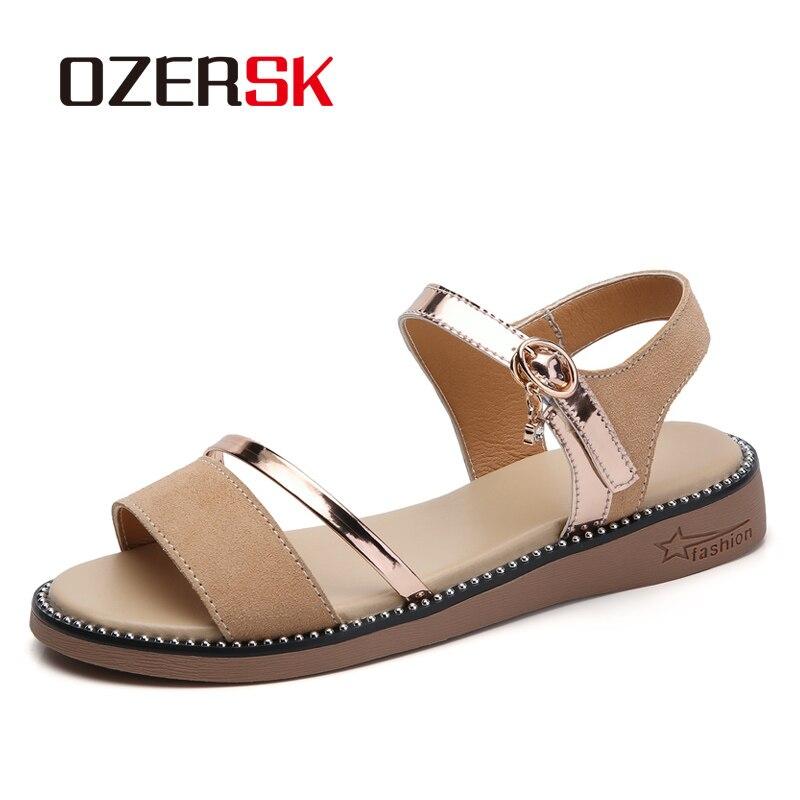 Ozersk 2020 verão chinelos de praia mulher flip flops plana antiderrapante sandálias casa chinelos mulher casual indoor sapatos de praia quente