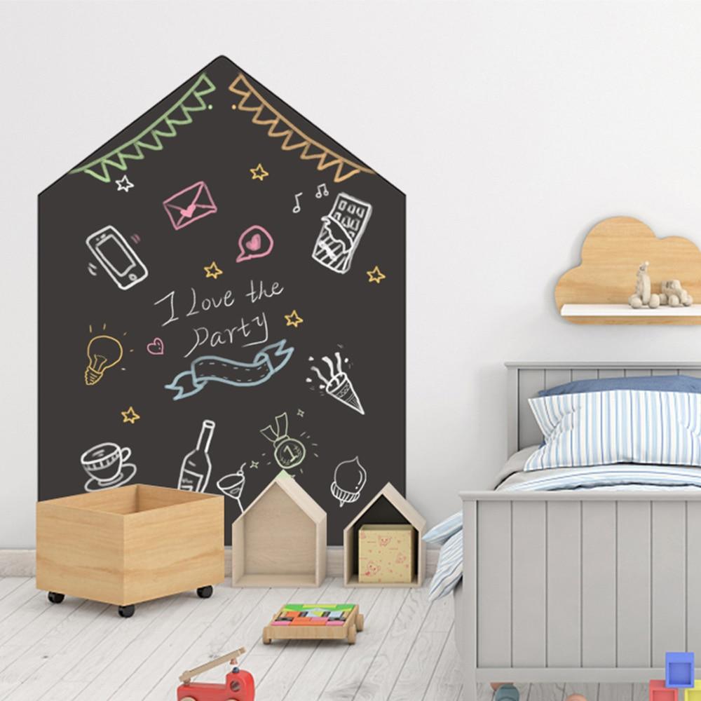 120x90cm Chalkboard Wall Sticker Removable Erasable Blackboard Self Adhesive Learning Painting Office Notice Board Message Board