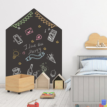 120x90cm Chalkboard Wall Sticker Removable Erasable Blackboard Self Adhesive Learning Painting Office Notice Board Message