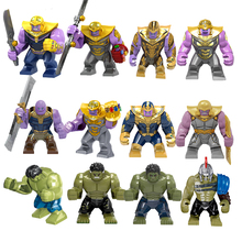 Avengers 4 Endgamer Action Figure Thanos Black Panther Hulk Iron Man Glove Blocks Compatible Marvel Toy