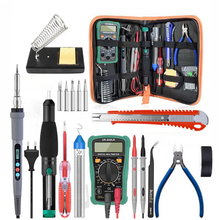 Dusco.E 220V 60W Adjustable Temperature Electric Soldering iron kit With Soldering Iron Tips Desoldeirng Pump Welding Tools Set