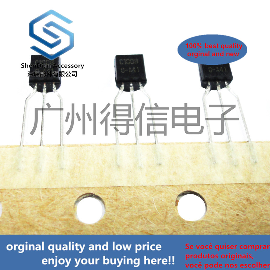 30pcs 100% Orginal New KSC1008 C1008 TO-92 NPN (LOW FREQUENCY AMPLIFIER MEDIUM SPEED SWITCHING)  Real Photo