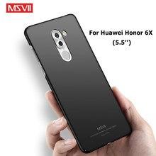 Fundas MSVII para Huawei Honor 6x, funda esmerilada delgada para Huawei 6x Honor6x, funda rígida para Huawei Honor 6 x, fundas de 5,5 pulgadas