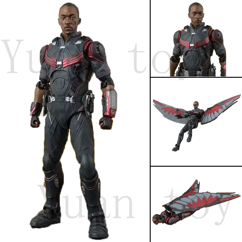 6inch SHF Avengers 4 Endgame Infinity War Falcon Action Figure Christmas Toy Doll Gift