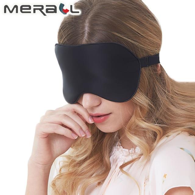 100% Natural Mulberry Silk Sleep Mask Soft Blindfold Smooth Eye Mask Sleeping Aid Eyeshade Eye Cover Patch Bandage Comfort 1
