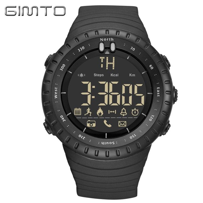GIMTO спортивные умные часы для мужчин шагомер уведомления Bluetooth Smartwatch Android IOS умные часы дистанционное управление часы для мужчин s IP67