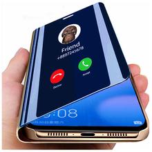Inteligentne lustro etui z klapką do Samsung Galaxy A51 A52 A72 A32 A12 A50 A71 A70 S21 S20 Ultra FE S9 S8 S10 Plus A20 A20e A31 A30 pokrywa tanie tanio CN (pochodzenie) Smart Mirror Flip Case Zwykły Przezroczysty For Samsung s20 Ultra For Samsung s20 Plus For Samsung A50 A50S A51