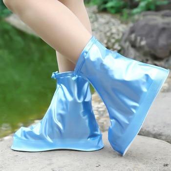 Rain cover shoes reusable Non-slip elastic force rain boot covers waterproof