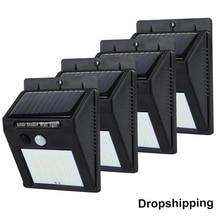 купить 20/30 LED Solar Power Light PIR Motion Sensor 1/2/4pcs Solar Wall Lamp Outdoor Waterproof Energy Saving Garden Yard Lamps дешево