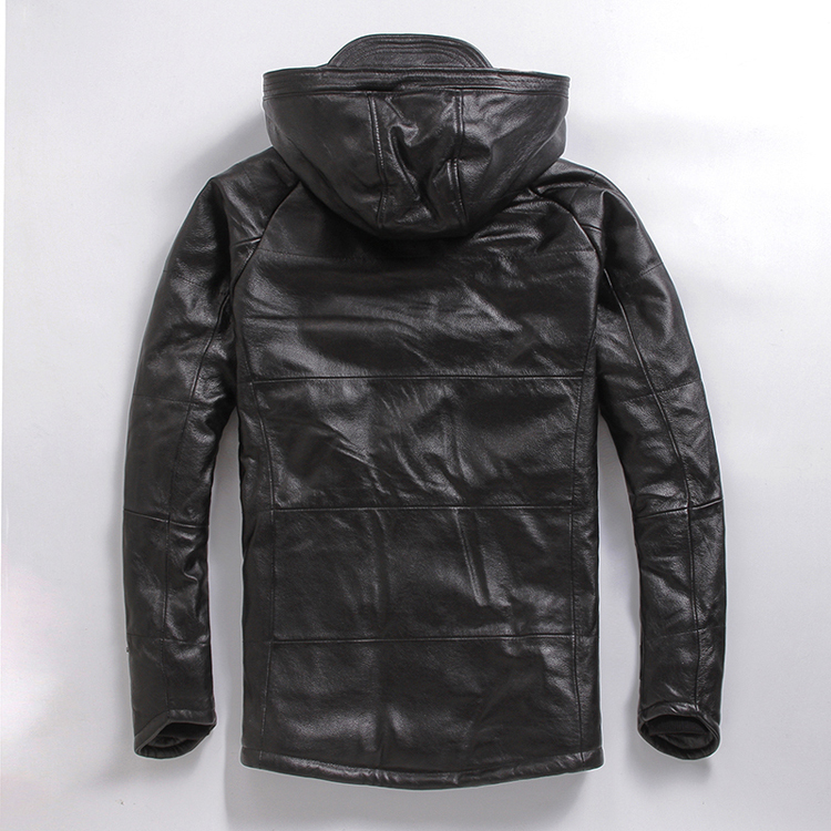 Plus Size Men Cowskin Jacket,men's Genuine Leather Winter Coat.warm Cotton Thick Clothing.biker Jackets,sales,Free Shipping