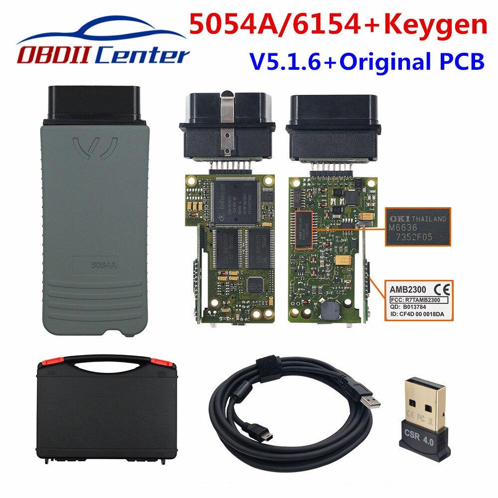 Bluetooth 5054A OKI оригинальный полный чип V5.1.6 V5.1.3 V4.4.3 автомобильный диагностический сканер Wifi 6154 4.4.4.10/4.4.3 5054 UDS OKI