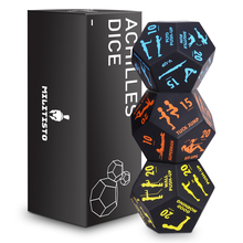 3Pcs/Set Fitness Sports Dice Set Cardio Yoga Exercise Dice Workout Training Equipment Party Family Games Entertainment Toy