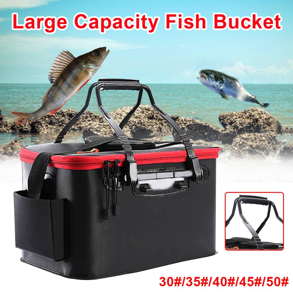 Fishing Bags Portable Multifunction Foldable Fishing Bucket Live Fish Box Camping Water Container Fishing Tackle Storage Box