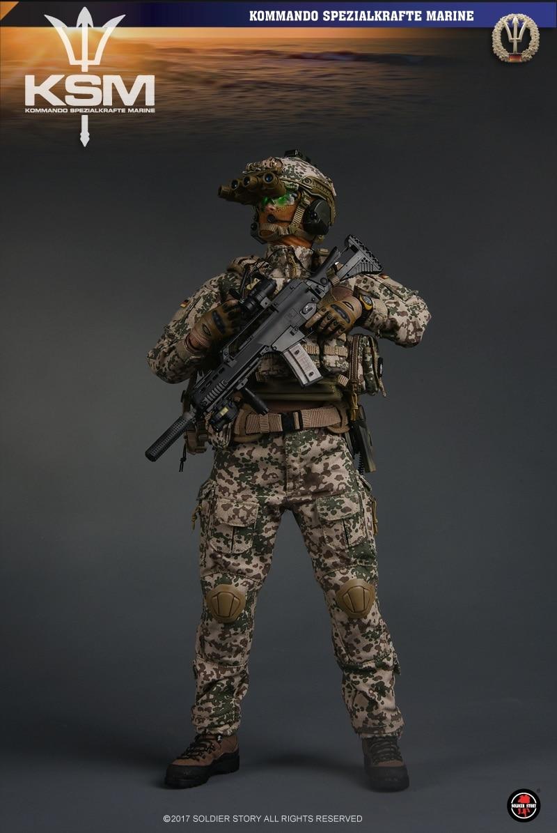 1//6 Scale Toy Desert Flecktarn Helmet /& Night Vison Goggles Kommando Assaulter