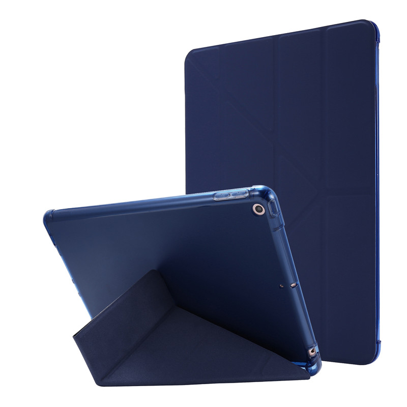 dark Blue White Cover For iPad 7th Generation Case 10 2 inch PU Leather Flip Stand Smart Protective Cover
