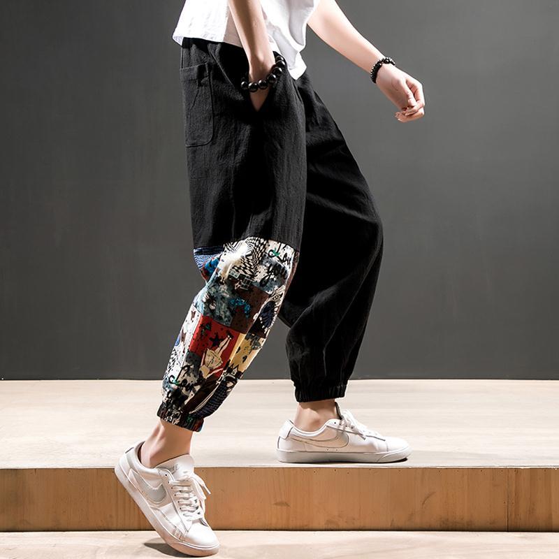 Chinese trousers, leisure, Harun Lanterns, Men National Clothing, Kung Fu Pants, Oriental Men's Clothing