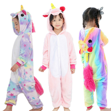 boys girls clothes winter unicorn pajamas kids new years eve clothes kids unicornio flannel panda unicorn 2-10 years old licorne cheap COTTON Polyester Animal cartoon Floral Patchwork Plaid polka dot Solid striped Children s pajamas Unisex Fits true to size take your normal size