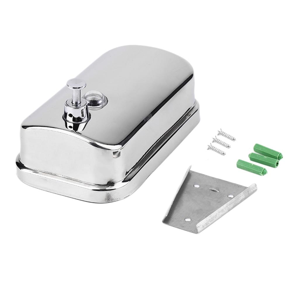 500/1000ML Stainless Steel Soap Pump Wall Mounted Shampoo Box Liquid Dispenser KItchen Bathroom Soap Dispenser Hareware Sets