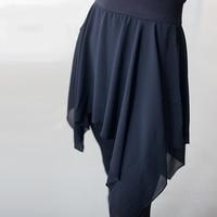 New Patchwork Chiffon Skirt Pants Women High Waist Latin Dance Trousers Professional Black Ballet Yoga Stretchy Dance Leggings