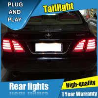 4 sztuk Car Styling dla Crown 2003-2009 Taillights dla Crown wszystkie tylna lampa LED + Turn Signal + Brake + rewers LED light