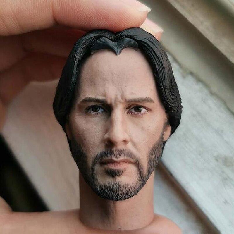 John Wick Keanu Reeves Head Sculpt Fit 1//6 Action Figure Model Film Star 1.0 New