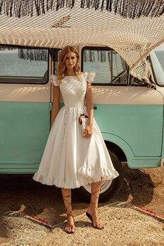Robe Courte pour Mariage Bohème Romantique Kelly