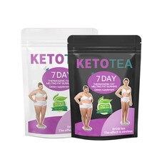 Service à thé Keto pour perte de poids de jour et de nuit, produit amincissant, détox, Teatox, nettoyage efficace du côlon, 7 jours