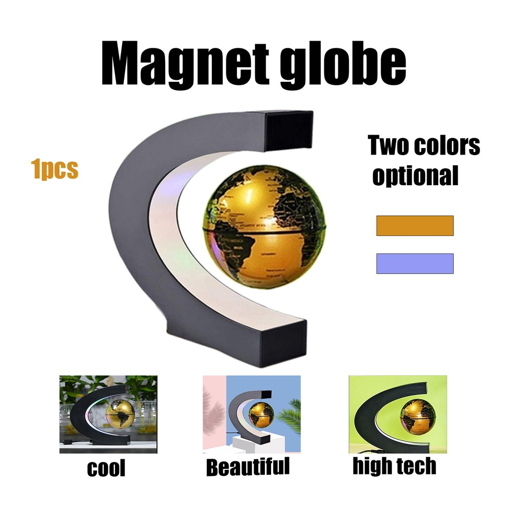 LED World Map Magnetic Levitation Floating Globe Home Electronic Antigravity Lamp Novelty Ball Light Birthday Decoration