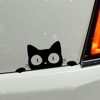 Peeking Cat car stickers 2