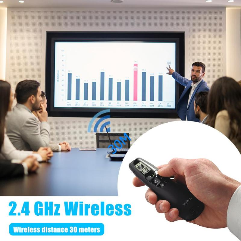 Présentateur sans fil R800 2.4GHz avec écran LCD Distance de contrôle Radio de 30m pointeur Laser pour télécommande PPT