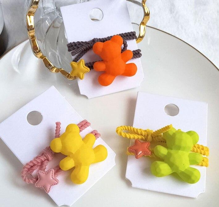 Animados Ursos Pequenos Anéis de Cabelo Styling Ferramentas Acessórios HA634