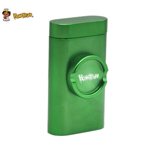 Honeypuff алюминиевый травяной Точильщик Pinch One htter & Dugout чехол для трубы с чехол для хранения курительная трубка все в одном