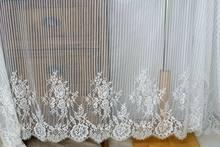 1.5 m x 3 m/lot cílios tecido de renda diy nupcial weeding vestido renda bordado roupas acessórios vestido