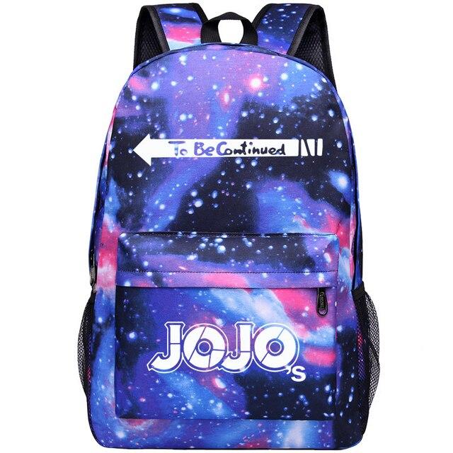 JoJo's Bizarre Adventure Giorno Giovanna  Bruno Bucciarati Cosplay Anime Accessory Backpack School Bag Oxford Cloth Adult Men Ms 5