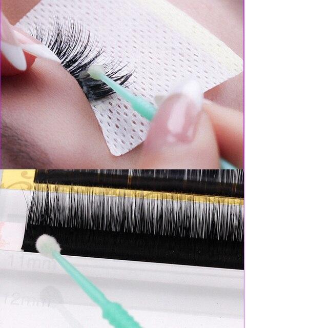 100pcs/lot Durable Micro Disposable Eyelash Extension Individual Applicators Mascara Brush Eyelash Glue Cleaning Tool 3