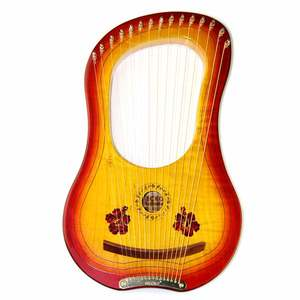 Image 4 - GECKO 15 String Wooden Lyre Harp Metal Strings Canada MAPLE  String Instrument with Carry Bag