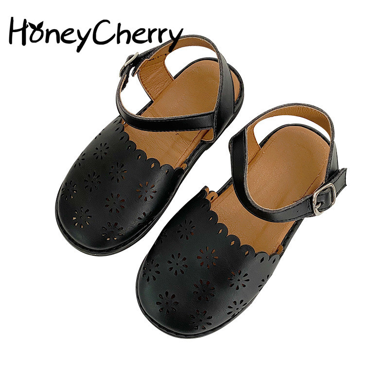 Girls Head Sandals Fashion Soft Children Shoes New Summer Hollow Breathable Female Baby Shoes Toddler Sandals