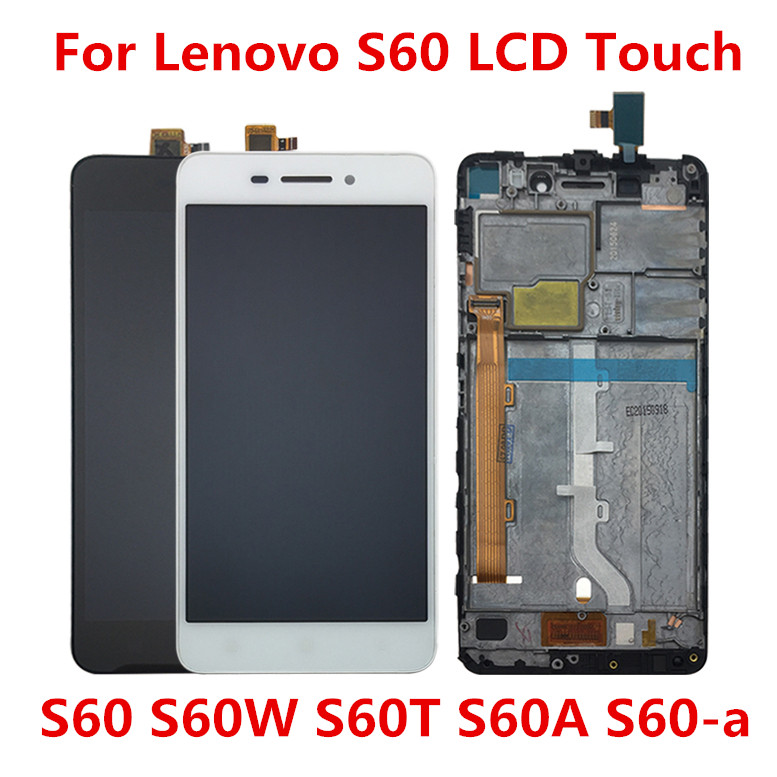 5 inch For Lenovo S60 S60W S60T S60A S60-a LCD Display Touch Screen Digitizer Assembly Replacement Monitor Panel Module image