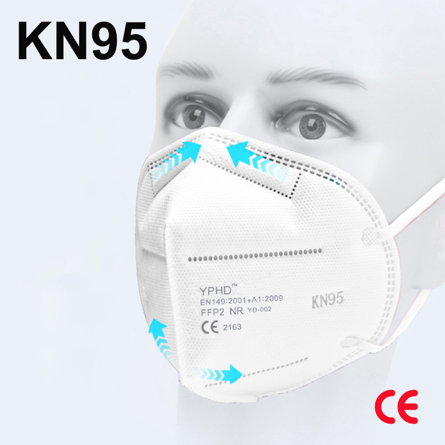 CE 5 Layers Reusable KN95 Face Mask ffp2 Anti Dust Breathable KN95 Masks Respirator kn95mask Protective face masks FFP2 filter