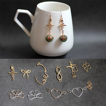 цена на Korean Alloy Geometric Personality Face Wings Love Earring For DIY Fashion DIY Jewelry Making Hook Drop Earrings Accessorice
